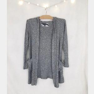 Haute monde gray hooded cardigan